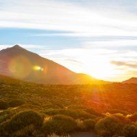 Sonnenuntergang beim Teide auf Teneriffa